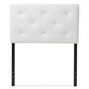 Baxton Studio Baltimore Modern and Contemporary White Faux Leather Upholstered Twin Size Headboard