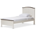 Baxton Studio Harry Classic Butter Milk and Walnut Finishing Twin Size Platform Bed