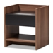Baxton Studio Vanda Modern and Contemporary Two-Tone Walnut and Black Wood 1-Drawer Nightstand