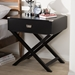 Baxton Studio Curtice Modern And Contemporary Black 1-Drawer Wooden Bedside Table - GDL7628-Black-CT