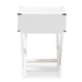 Baxton Studio Curtice Modern And Contemporary White 1-Drawer Wooden Bedside Table - GDL7628-White-CT