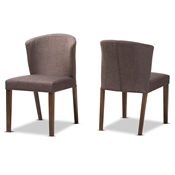 Baxton Studio Cassie Mid-Century Modern Walnut Wood Light Brown Fabric Dining Chair Baxton Studio restaurant furniture, hotel furniture, commercial furniture, wholesale dining room furniture, wholesale chairs, classic dining chair