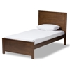 Baxton Studio Catalina Modern Classic Mission Style Brown-Finished Wood Twin Platform Bed