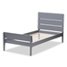 Baxton Studio Nereida Modern Classic Mission Style Grey-Finished Wood Twin Platform Bed - HT1703-Grey-Twin