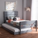 Baxton Studio Nereida Modern Classic Mission Style Grey-Finished Wood Twin Platform Bed - HT1703-Grey-Twin-TRDL