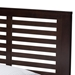 Baxton Studio Sedona Modern Classic Mission Style Dark Brown-Finished Wood Twin Platform Bed with Trundle - HT1704-Espresso Brown-Twin-TRDL