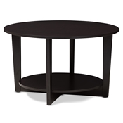 Baxton Studio Belina Modern and Contemporary Wenge Brown Finished Coffee Table