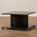Baxton Studio Cladine Modern and Contemporary Wenge Brown Finished Coffee Table - MH22003-Wenge-CT