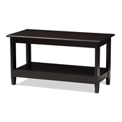 Baxton Studio Malena Modern and Contemporary Wenge Brown Finished Coffee Table