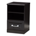 Baxton Studio Odelia Modern and Contemporary Wenge Brown Finished 1-Drawer Nightstand