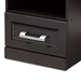 Baxton Studio Odelia Modern and Contemporary Wenge Brown Finished 1-Drawer Nightstand - MH5054-Wenge-NS