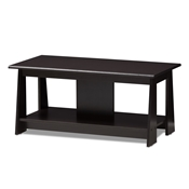 Baxton Studio Fionan Modern and Contemporary Wenge Brown Finished Coffee Table