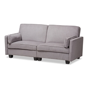 Baxton Studio Felicity Modern and Contemporary Light Gray Fabric Upholstered Sleeper Sofa
