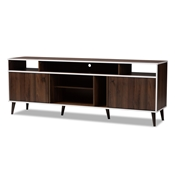 Baxton Studio Marion Mid-Century Modern Brown and White Finished TV Stand