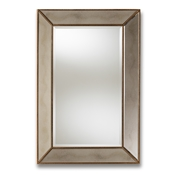 Baxton Studio Neva Modern and Contemporary Antique Gold Finished Rectangular Accent Wall Mirror Baxton Studio restaurant furniture, hotel furniture, commercial furniture, wholesale living room furniture, wholesale mirror, classic mirrors