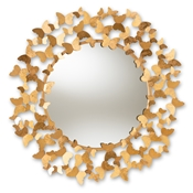 Baxton Studio Soleil Modern and Contemporary Antique Gold Finished Butterfly Accent Wall Mirror Baxton Studio restaurant furniture, hotel furniture, commercial furniture, wholesale living room furniture, wholesale mirror, classic mirrors