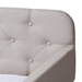 Baxton Studio Camelia Modern and Contemporary Beige Fabric Upholstered Button-Tufted Twin Size Sofa Daybed with Roll-Out Trundle Guest Bed - Camelia-Beige-Daybed