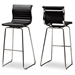 Baxton Studio Giorgio Modern and Contemporary Black Faux Leather Upholstered Chrome-Finished Steel Counter Stools Set of 2
