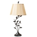 Baxton Studio Cilla Transitional Black Metal Leaf Table Lamp - EVEN3816