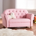 Baxton Studio Gemma Modern and Contemporary Pink Faux Leather 2-Seater Kids Loveseat - LD2212-Pink-LS