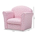 Baxton Studio Erica Modern and Contemporary Pink and White Heart Patterned Fabric Upholstered Kids Armchair - LD-20832-Pink-CC