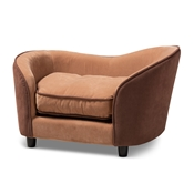 Baxton Studio Hayes Modern and Contemporary Two-Tone Light Brown and Dark Brown Fabric Upholstered Pet Sofa Bed