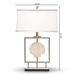Baxton Studio Treasa Modern and Contemporary Antique Silver Metal Framed Seashell Table Lamp - TPW0008