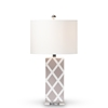 Baxton Studio Selia Modern and Contemporary Gray and White Diamond Patterned Ceramic Table Lamp Baxton Studio restaurant furniture, hotel furniture, commercial furniture, wholesale lighting, wholesale Table Lamps, classic Table Lamps
