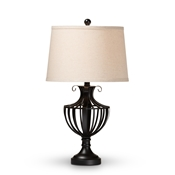 Baxton Studio Nayara Classic and Traditional Matte Black Metal Urn Table Lamp Baxton Studio restaurant furniture, hotel furniture, commercial furniture, wholesale lighting, wholesale Table Lamps, classic Table Lamps