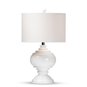 Baxton Studio Safira Modern and Contemporary White Sculpted Table Lamp Baxton Studio restaurant furniture, hotel furniture, commercial furniture, wholesale lighting, wholesale Table Lamps, classic Table Lamps