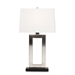 Baxton Studio Serre Modern and Contemporary Silver Metal Rectangular Cut-Out Table Lamp - TMS0008
