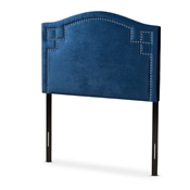 Baxton Studio Aubrey Modern and Contemporary Royal Blue Velvet Fabric Upholstered Twin Size Headboard