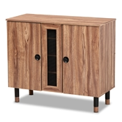 Baxton Studio Valina Modern and Contemporary 2-Door Wood Entryway Shoe Storage Cabinet