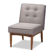 Baxton Studio Arvid Mid-Century Modern Gray Fabric Upholstered Wood Dining Chair Baxton Studio restaurant furniture, hotel furniture, commercial furniture, wholesale dining room furniture, wholesale dining chairs, classic dining chairs