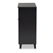 Baxton Studio Coolidge Modern and Contemporary Dark Grey Finished 4-Shelf Wood Shoe Storage Cabinet with Drawer - FP-02LV-Dark Grey