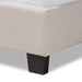 Baxton Studio Ansa Modern and Contemporary Beige Fabric Upholstered Twin Size Bed - CF9084C-Beige-Twin