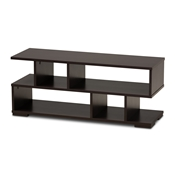 Baxton Studio Arne Modern and Contemporary Dark Brown Finished Wood TV Stand