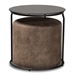 Baxton Studio Kira Modern and Contemporary Black with Grey and Brown 2-Piece Nesting Table and Ottoman Set