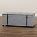 Baxton Studio Kyra Modern and Contemporary Grey Fabric Upholstered Storage Trunk Ottoman - JY19A212-Grey-Otto