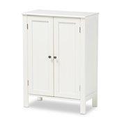Baxton Studio Thelma Cottage and Farmhouse White Finished 2-door Wood Multipurpose Storage Cabinet