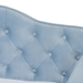 Baxton Studio Freda Traditional and Transitional Light Blue Velvet Fabric Upholstered and Button Tufted Twin Size Daybed with Trundle - Freda-Light Blue Velvet-Daybed-T/T