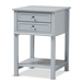 Baxton Studio Willow Modern Transitional Light Grey Finished 2-Drawer Wood Nightstand