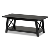 Baxton Studio Germain Modern and Contemporary Black Finished Wood Coffee Table