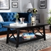 Baxton Studio Germain Modern and Contemporary Black Finished Wood Coffee Table - SR1706097-Black-CT