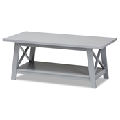 Baxton Studio Germain Modern and Contemporary Light Grey Finished Wood Coffee Table
