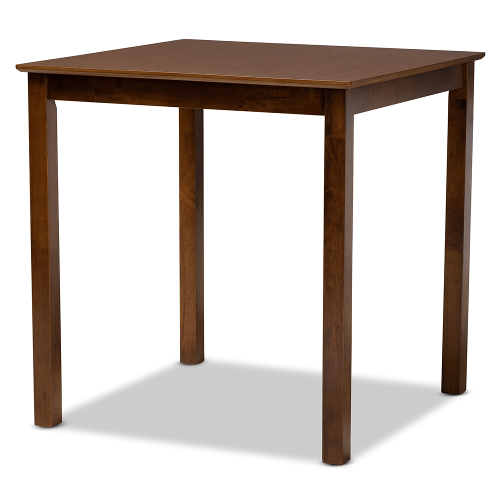 Baxton Studio Lenoir Modern and Contemporary Walnut Brown Finished Wood Counter Height Pub Table