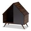 Baxton Studio Mia Modern and Contemporary Two-Tone Walnut Brown and Grey Finished 2-Door Cat Litter Box Cover House