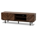 Baxton Studio Berit Mid-Century Modern Walnut Brown Finished Wood TV Stand