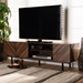 Baxton Studio Berit Mid-Century Modern Walnut Brown Finished Wood TV Stand - SE TV90800WI-Columbia-TV Stand