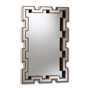 Baxton Studio Tanis Modern and Contemporary Glam Bronze Finished Rectangular Accent Wall Mirror